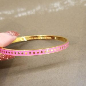 Kate Spade thin pink dot bangle